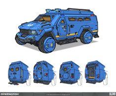 ArtStation - OW - Artbook, Al Crutchley Robot Concept Art, Armor Concept, Weapon Concept Art, Concept Cars, Army Vehicles, Armored Vehicles, Cool Car Drawings, Car Design Sketch, Cyberpunk Art