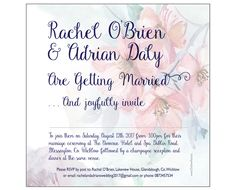 Floral Design Single sided wedding invitation - from - On Silver Pond