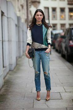 felpa e jeans