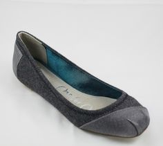 Toms Ballet Flats Grey Wool Silk Fancy!  I bought these on Poshmark this week. I love them!