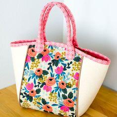 Basket Tote {free sewing pattern}