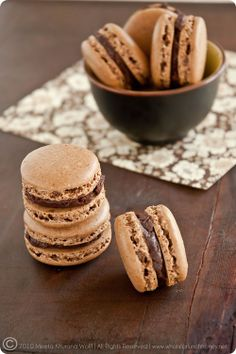 Rooibos Chocolate Chai and Sweet Spicy Chocolate Cinnamon Macarons