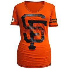 San Francisco Giants Women's One Sleeve Stripe T-Shirt by 5th & Ocean >> my favorite new top that i've seen so far @bellarogue32