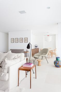 Light living room with pastel accents