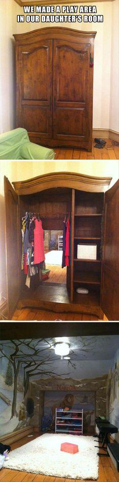 Awesome kids room idea Narnia!