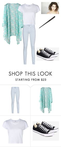 """Annabelle"" by oomfoveryou ❤ liked on Polyvore featuring 7 For All Mankind, RE/DONE and Converse"