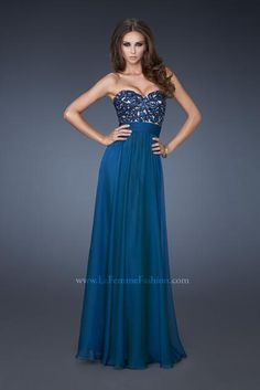La Femme Prom Dresses 18581 at Peaches Boutique  3 colors available, I like Chocolate