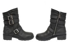 Milwaukee Cameo Womens Motorcycle Boots Black Leather - Stitch fix - Motorrad Motorcycle Boots Outfit, Leather Motorcycle Boots, Black Leather Boots, Motorcycle Gear, Moto Boots, Women Motorcycle, Motorcycle Accessories, Womens Motorcycle Fashion, Womens Biker Boots