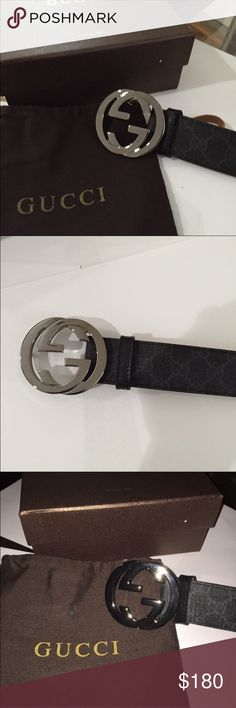 d1b48522bee Black Gucci Belt Size 38 authentic looks really good Gucci Accessories Belts