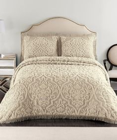 Loving this Taupe Layla Bedspread on #zulily! #zulilyfinds ($85) King 100% Cotton