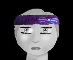 A purple headband, for those who don't like full hats.