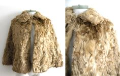 70s Curly Lamb or Goat Fur Cape by DandyLioness on Etsy #vintage #fur #cape #wedding