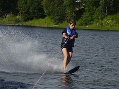 Water skiing on Quesnel Lake Tent Camping, Outdoor Camping, Hunting Outfitters, Water In The Morning, Fifth Wheel Trailers, American Sports, Second World, Rafting, Canoe