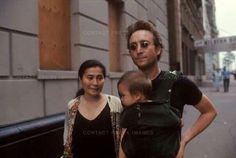 Yoko Ono-Lennon, John Lennon, and Sean Lennon