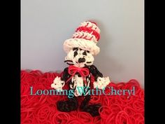 The Cat In The Hat Rainbow Loom. characters. Tutorial is Now on YouTube! Gomas.  Figures Charms. Please Subscribe ❤️❤ m.youtube.com/user/LoomingWithCheryl
