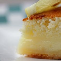 Lemon Cake-Pie - looks and sounds fantastic!