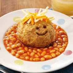 Creative Jacket Potato with Cheese and Beans!