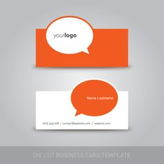 Die Cut Business Card Template Vector Graphic - use with the Silhouette Cameo!