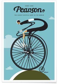 Pearson als Premium Poster von Michael Valenti | JUNIQE