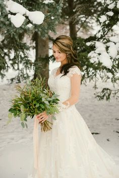 Modest Wedding Dress | Winter Bridals | Winter Wedding |
