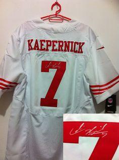 dd79b756b7dd NFL San Francisco 49ers 7  Colin Kaepernick White Autographed Jersey Eric  Weddle