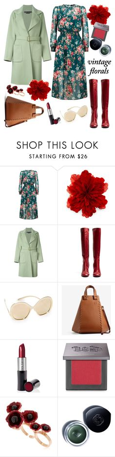 """Floral dress"" by ana-amorim ❤ liked on Polyvore featuring Gucci, Rochas, Joseph, Dolce&Gabbana, Loewe, Mary Kay, Urban Decay, Futuro Remoto, Shiseido and vintage"
