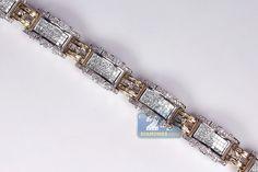 Mens Diamond Link Bracelet Two Tone Gold ct Bracelets For Men, Link Bracelets, Gents Bracelet, Two Tones, Gold Jewelry, Diamond, Men's Wristbands, Gold Jewellery, Diamonds