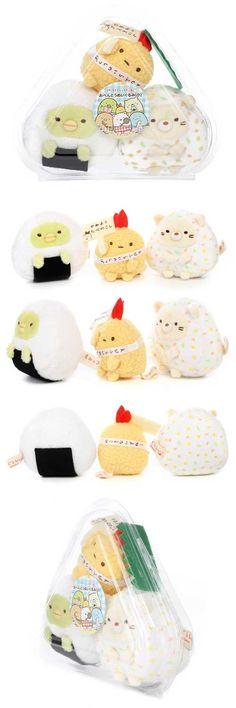 San-X Sumikko Gurashi Sushi bento Packing Plush Doll Set ( Tempura , Rice Ball )