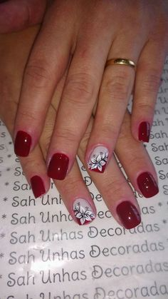 French Manicure Nails, French Nails, Red Nails, Manicure And Pedicure, French Nail Designs, Colorful Nail Designs, Fingernail Designs, Gel Nail Designs, Dipped Nails