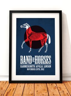 Band of Horses concert poster art.  This stunning print would make a great addition to any music lovers home. This print celebrates the Band of