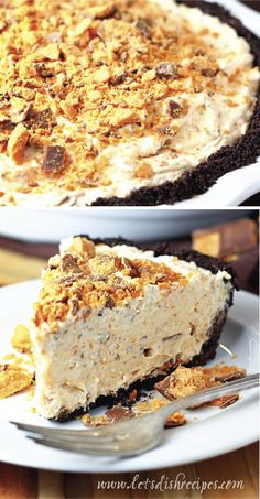 Ice cream isn't the only way to stay cool this summer. This Frozen Butterfinger Pie is a delicious way to beat the summer heat. Combine the crispety, crunchety, peanut-buttery taste of Butterfinger ca (Cool Desserts Ideas) Ice Cream Desserts, Frozen Desserts, Summer Desserts, No Bake Desserts, Delicious Desserts, Dessert Recipes, Frozen Pies, Yummy Treats, Sweet Treats