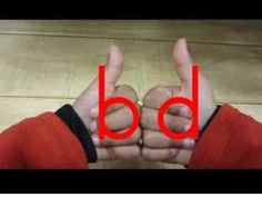 SO PERFECT for kindergarten!!! The B-D Song - for young children with letter reversals
