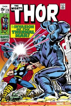"Thor vol. 1 #170, ""The Thunder God and the Thermal Man!"" (November, 1969). Jack Kirby."