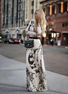 FASHION AND STYLE: Gorgeous chocolate maxi dress