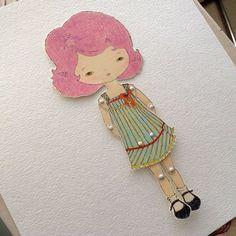 Paper Doll - Violet - Instant Download via Etsy