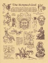 Horned God Parchment Poster Book of Shadows Page Celtic Druid Wiccan
