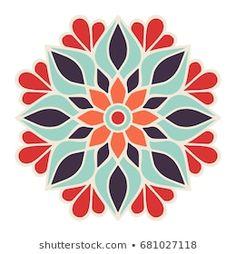Mandala Art Lesson, Mandala Drawing, Mandala Painting, Painting & Drawing, Stencil Painting, Fabric Painting, Free Mosaic Patterns, Free Hand Designs, Islamic Art Pattern