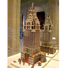 The Empire State Building isn't the only New York City skyscraper that's been built in gingerbread. This sweet recreation depicts the city's Chrysler Building.