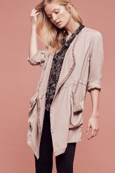 Draped Morgan Trench by Hei Hei (taupe)