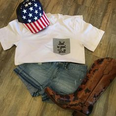 """This """"God is Good Ya'll"""" pocket tee is one of our favorites!"""