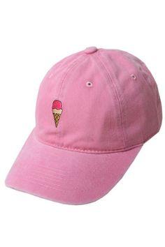 Ice Cream Cone Pink Cap Gorra Rosa 87acb195a9a
