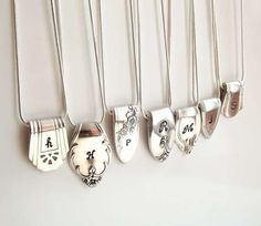 These Silver Spoons Were Elegantly Turned into Initialed Necklaces trendhunter.com