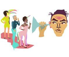 Editorial illustration about the culture of originality in organizations for Fakta Magazine by Pirita Tolvanen