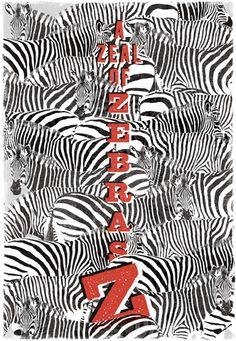 Collective noun pictures. A Zeal of Zebras