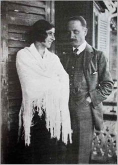 """Baladine Klossowska - Artist and Mother of """"Balthus"""" ~ Shown here with Rilke (died in 1926) ~ Wikipedia"""