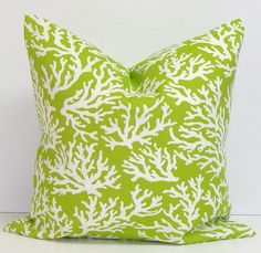 green pillow14x14 green outdoor pillowbeach greenbeach