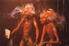 Devil puppets from Jim Henson's 'The Storyteller: The Soldier and Death' episode