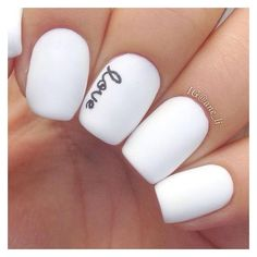 50 Best Black and White Nail Designs ❤ liked on Polyvore featuring beauty products, nail care and makeup