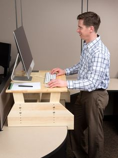 "WallSproutz Standz 1000 - Adjustable Stand-up Desk Converter 30""x22""  #standingdesk"