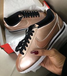 Rose gold nike cortez Brand new never worn nike sneakers in rose gold. NO TRADES Nike Shoes Athletic Shoes Nike Cortez Noir, Nike Cortez Ultra, Nike Classic Cortez, Sneaker Boots, Shoes Sneakers, Baskets, Nike Kicks, Lit Shoes, Gold Shoes